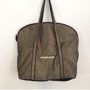 Black & Gold glitter Victoria Secret tote bag
